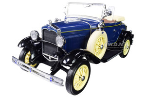 1931 Ford Model A Roadster Riviera Dark Blue 1/18 Diecast Model Car SunStar 6125