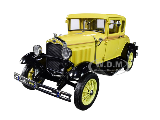 1931 Ford Model A Coupe Bronson Yellow 1/18 Diecast Model Car SunStar 6135