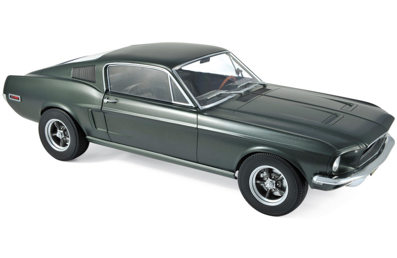 1968 Ford Mustang Fastback Satin Green Metallic 1/12 Diecast Model Car Norev 122702
