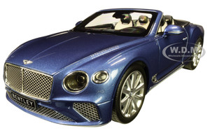2019 Bentley Continental GT Convertible Blue Crystal Metallic 1/18 Diecast Model Car Norev 182785