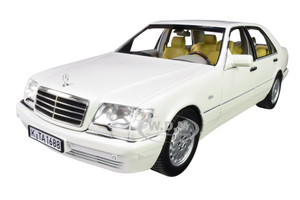 1997 Mercedes Benz S320 Metallic White 1/18 Diecast Model Car Norev 183720
