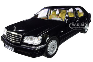 1997 Mercedes Benz S320 Metallic Black 1/18 Diecast Model Car Norev 183721