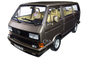 1990 Volkswagen Multivan Bus Bronze Metallic 1/18 Diecast Model Car Norev 188543