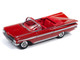 1959 Chevrolet Impala Convertible Red Mike's Diner Front Facade Diorama Set American Snapshots 1/64 Diecast Model Car Johnny Lightning JLDR005