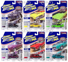 Muscle Cars USA 2019 Release 3 Set A of 6 Cars Muscle Car & Corvette Nationals MCACN Johnny Lightning 50th Anniversary Limited Edition 3004 pieces Worldwide 1/64 Diecast Model Cars Johnny Lightning JLMC021 A