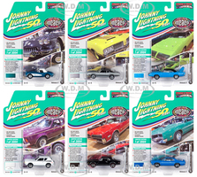 Muscle Cars USA 2019 Release 3 Set B of 6 Cars Muscle Car & Corvette Nationals MCACN Johnny Lightning 50th Anniversary Limited Edition 3004 pieces Worldwide 1/64 Diecast Model Cars Johnny Lightning JLMC021 B