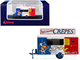 Mobile Food Trailer Delicieuses Crepes France 1/87 HO Scale Diecast Model Lima HC5000