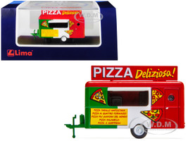 Mobile Food Trailer Pizza Deliziosa Italy 1/87 HO Scale Diecast Model Lima HC5002