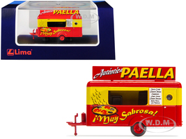 Mobile Food Trailer Autentica Paella Spain 1/87 HO Scale Diecast Model Lima HC5003