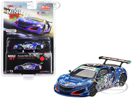 Acura NSX GT3 #93 Statue of Liberty 2017 IMSA Watkins Glen Limited Edition 3600 pieces Worldwide 1/64 Diecast Model Car True Scale Miniatures MGT00072