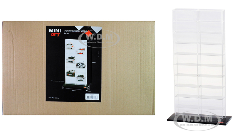 20 Car Acrylic Display Show Case Large Mini GT for 1/64 Scale Model Cars True Scale Miniatures MGTAC02