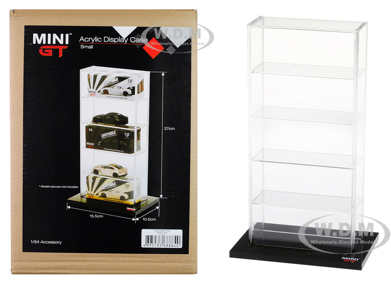 5 Car Acrylic Display Show Case Small Mini GT for 1/64 Scale Model Cars True Scale Miniatures MGTAC03