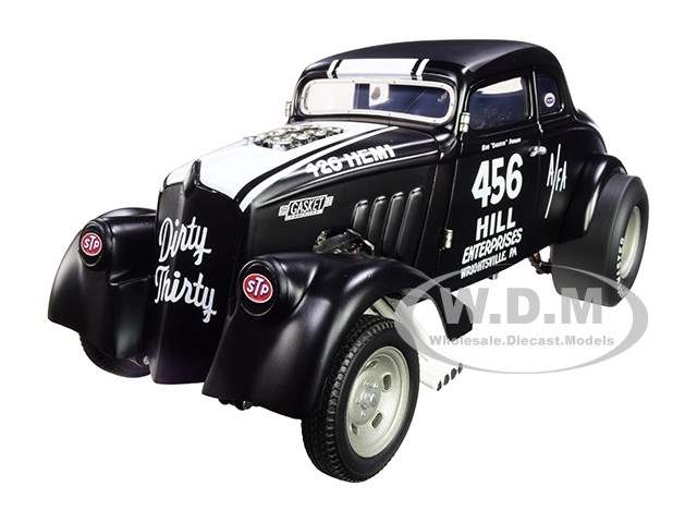 1933 Gasser #456 Bob Cheater Parmer Dirty Thirty Matt Black White Stripes Limited Edition 420 pieces Worldwide 1/18 Diecast Model Car Acme A1800913