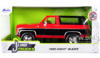 1980 Chevrolet Blazer K5 Red Black Just Trucks 1/24 Diecast Model Car Jada 31593