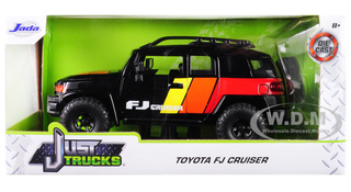Toyota FJ Cruiser Custom Roof Rack Black Just Trucks 1/24 Diecast Model Car Jada 31595