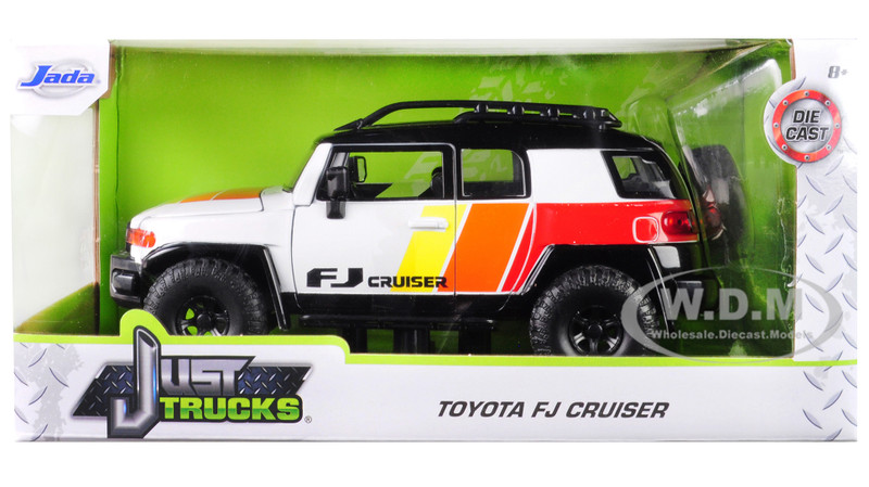 Toyota FJ Cruiser Custom Roof Rack White Just Trucks 1/24 Diecast Model Car Jada 31596