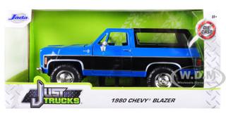 1980 Chevrolet Blazer K5 Blue Black Just Trucks 1/24 Diecast Model Car Jada 31598