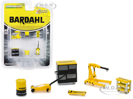 Bardahl 6 piece Shop Tools Set Shop Tool Accessories Series 1 1/64 Greenlight 16020 A