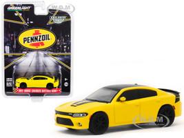 2017 Dodge Charger Daytona HEMI Yellow Black Top Pennzoil Advertisement Car Hobby Exclusive 1/64 Diecast Model Car Greenlight 30112