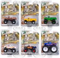 Kings of Crunch Series 5 Set of 6 Monster Trucks 1/64 Diecast Model Cars Greenlight 49050
