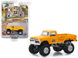 1977 Ford F-250 Monster Truck Truk Yellow Kings of Crunch Series 5 1/64 Diecast Model Car Greenlight 49050 B