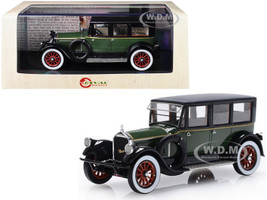 1920 Pierce Arrow Model 32 7-Seat Limousine Green Black Limited Edition 250 pieces Worldwide 1/43 Model Car Esval Models EMUS43043 A
