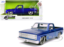 1985 Chevrolet Silverado C-10 Pickup Truck Candy Blue Just Trucks 1/24 Diecast Model Car Jada 30287