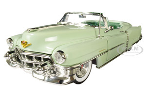 1953 Cadillac Eldorado Convertible Gloss Light Green Dark Green Interior 1/18 Diecast Model Car Autoworld AW260