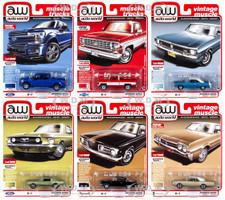 Autoworld Muscle Cars Premium 2019 Release 4 Set A of 6 pieces 1/64 Diecast Model Cars Autoworld 64232 A