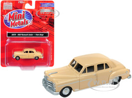 1950 Plymouth Sedan Palm Beige 1/87 HO Scale Model Car Classic Metal Works 30576