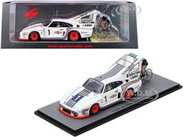 Porsche 935 #1 Porsche Martini Racing Bicycle Speed Record 1977 Henri Pescarolo Driver Jean-Claude Rude Cyclist 1/43 Model Car Spark S1939