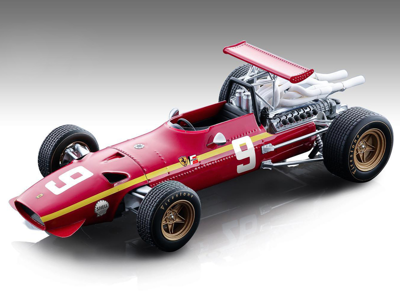 Ferrari 312 F1/68 #9 Jacky Ickx Formula One Nurburgring German Grand Prix 1968 Mythos Series Limited Edition165 pieces Worldwide 1/18 Model Car Tecnomodel TM18-132 C
