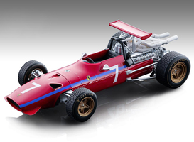 Ferrari 312 F1/68 #7 Derek Bell Formula One Watkins Glen United States Grand Prix 1968 Mythos Series Limited Edition 120 pieces Worldwide 1/18 Model Car Tecnomodel TM18-132 D