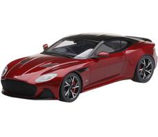 Aston Martin DBS Supperleggera Hyper Red Black Top 1/18 Model Car Top Speed TS0266