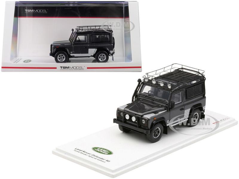 Land Rover Defender 90 Dark Gray Tomb Raider Special Edition 1/43 Model Car True Scale Miniatures 430336