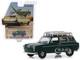1969 Volkswagen Type 3 Squareback Roof Rack Dark Green Estate Wagons Series 4 1/64 Diecast Model Car Greenlight 29970 B