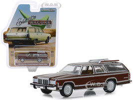 1980 Mercury Grand Marquis Colony Park Metallic Dark Chamois Brown Woodgrain Light Brown Interior Estate Wagons Series 4 1/64 Diecast Model Car Greenlight 29970 F