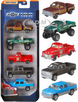100 Years Anniversary of Chevrolet Trucks Set of 5 Pickup Trucks Diecast Model Cars Matchbox FBC29
