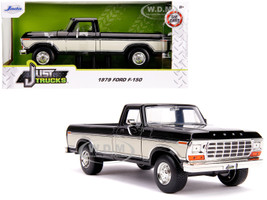 1979 Ford F-150 Pickup Truck Stock Black Cream Just Trucks 1/24 Diecast Model Car Jada 31585