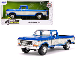1979 Ford F-150 Pickup Truck Stock Candy Blue Metallic Cream Just Trucks 1/24 Diecast Model Car Jada 31587