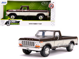 1979 Ford F-150 Pickup Truck Stock Brown Metallic Cream Just Trucks 1/24 Diecast Model Car Jada 31588