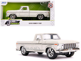 1979 Ford F-150 Pickup Truck Stock Cream Just Trucks 1/24 Diecast Model Car Jada 31589