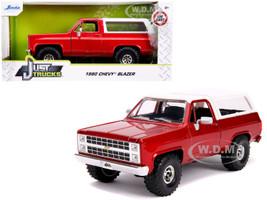 1980 Chevrolet Blazer K5 Off Road Metallic Red White Just Trucks 1/24 Diecast Model Car Jada 31594