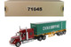 International LoneStar Sleeper Cab Red with Skeleton Trailer and 40' Dry Goods Sea Container China Shipping Green Transport Series 1/50 Diecast Model Diecast Masters 71045