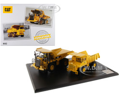 CAT Caterpillar 769 Off-Highway Truck 1963 2006 CAT Caterpillar 770 Off-Highway Truck 2007 Present with Operators Evolution Series Set of 2 pieces 1/50 Diecast Models Diecast Masters 85562