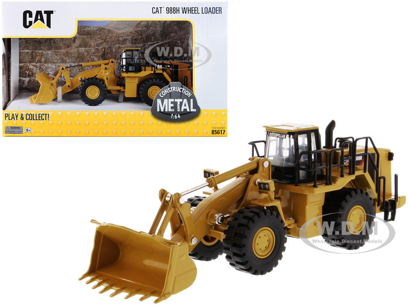 CAT Caterpillar 988H Wheel Loader Play & Collect Series 1/64 Diecast Model Diecast Masters 85617