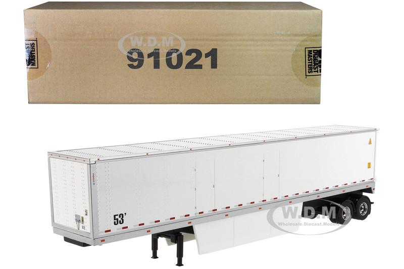 53' Dry Cargo Van Trailer White Transport Series 1/50 Diecast Model Diecast Masters 91021