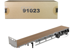53' Flat Bed Trailer Silver Transport Series 1/50 Diecast Model Diecast Masters 91023