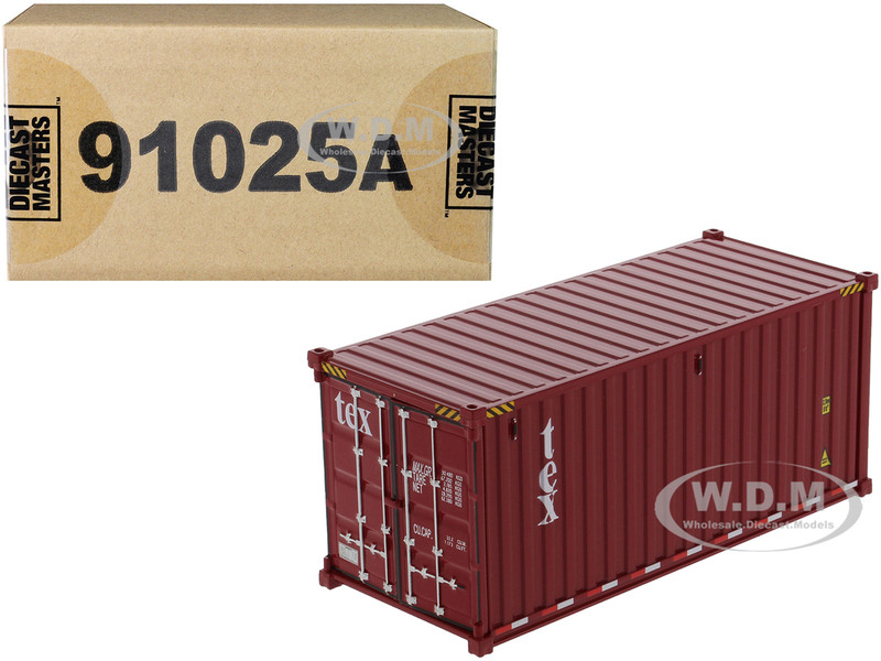 20' Dry Goods Sea Container TEX Burgundy Transport Series 1/50 Model Diecast Masters 91025 A