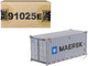 20' Dry Goods Sea Container MAERSK Gray Transport Series 1/50 Model Diecast Masters 91025 E
